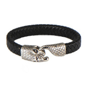 LOPEZ KENT Retro Multi-Layer Woven Stainless Steel Punk Men's Snake Head Bracelet