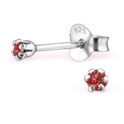 bungsa Studs with 2 mm Crystals in 925 silver