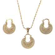 Ethiopian Set Jewellery Necklace Earrings Bridal Engagement Jewellery Set African Jewellery