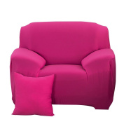 sourcingmap® Stretch Sofa Slipcover Sofa Cover 1 Seater Protectors Couch Cover Featuring Soft Form Fit Slip Resistant Chair Cover 35-140cm Fuchsia