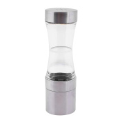 Demiawaking Stainless Steel Manual Pepper Mill Spice Grinder Kitchen Cooking Tool