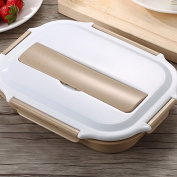 Luckyfree Lunch Boxs Containers 304 Stainless Steel With Compartments Microwave Bento Box For Students Adults Children Picnic Food Container Stainless Steel grid Mr Colour