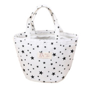 Prevently Brand New Fashion Star Dot Printing Thermal Insulated Lunch Box Cooler Bag Tote Bento Pouch Lunch Container