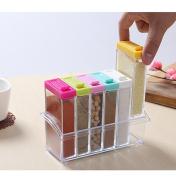 YOOKOON Set of 6 Spice Rack Shaker Seasoning Bottles Condiment Jar Seasoning Tank for Salt Sugar