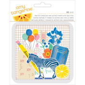 Amy Tan Finders Keepers Die-Cuts 48/Pkg-Cardstock & Acetate Shapes W/Foil