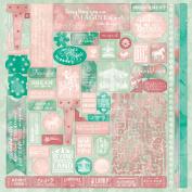 Authentique Paper IMA009 Imagine Cardstock Stickers 30cm x 30cm -Details