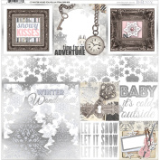 Winter Wishes Foiled Vellum 30cm x 30cm -