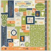 Darling Boy Cardstock Stickers, 30cm x 30cm , Details