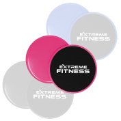Extreme Fitness® Gliding Discs Core Sliders - Dual Sided Use on Carpet or Hard Floors - Abdominal Exercise Equipment