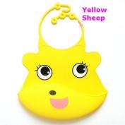 Danapp Silicone bib cartoon green baby bib bib newborn silicone saliva towel soft bellyband