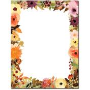 Fall Floral Letterhead Printer Paper, 80 Sheets
