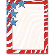 Star Spangled Banner Letterhead Printer Paper, 80 Sheets