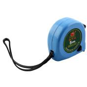 Plastic Retractable Measure Tape Ruler Metric Measuring Tool Blue 5 Metre Length