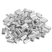 0.05 in (1.2mm) Dia Wire Rope Aluminium Sleeves Clip Fittings Cable Crimps 100pcs