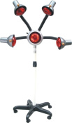 5 Head Infrared Lamp Hair Colour Processor Red Light Dryer Flexible Arms With Wheels Bulbs Iron Net