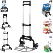 Apontus 80kg Capacity Aluminium Folding Hand Truck Dolly Cart