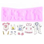Drawihi Silicone Baby Clothes Kuchenform Creative Handmade Seifenform Geleeform Schokoladenform Backenwerkzeuge