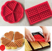 EXOH Non-Stick DIY Waffles Baking Pastry Dessert Silicone Mould