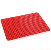 W.Air Malloom Pyramid Pan Nat Stick Fat Reducing Silicate Cooking Mat Oven Baking Tray Sheets