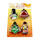 Bigood 4x Stainless Steel Christmas Series Biscuit Cookie Cake Mould Mould Shaper Kitchen Tool