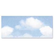 Geographics Design Envelope, Blue Clouds, 4 x 9 1/2, 50/Bx