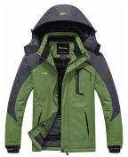 Wantdo Men's Waterproof Mountain Jacket Fleece Windproof Ski Jacket