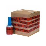 """Box Packaging Goodwrappers Identi-Wrap """"Do Not Double Stack"""" Stretch Film, 80 Gauge, 13cm x 150m 6 Rolls/Case"""