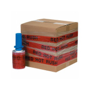 """Box Packaging Goodwrappers Identi-Wrap """"Red Hot Rush"""" Stretch Film, 80 Gauge, 13cm x 150m 6 Rolls/Case"""