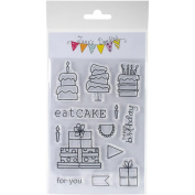 Jane's Doodles Clear Stamps 10cm x 15cm -party Time
