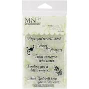 My Sentiments Exactly Clear Stamps, 7.6cm x 10cm Sheet, Feel Well