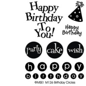My Sentiments Exactly Clear Stamps, 7.6cm x 10cm Sheet, Birthday Circles