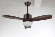 Ceiling Fan Lamp Fan Chandelier 110cm Wood Leaf Light