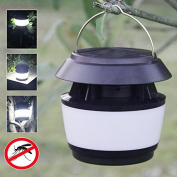 Inovey Solar Power Sonic Wave Anti-mosquito LED Light Garden Stainless Steel Waterproof Lamp