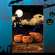 Inovey 30x45cm Halloween Polyester Pumpkins Night Flag Garden Holiday Decoration
