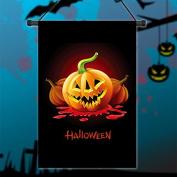 Inovey 30x45cm Halloween Polyester Demon Pumpkin Flag Garden Holiday Decoration