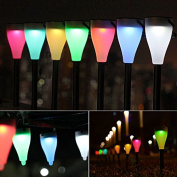 Inovey Garden Solar Power Colourful Changing LED Light Courtyard Lawn Path Stake Decoration Lamp