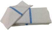 Nouvelle Legende® 36cm X 46cm Ribbed Bar Mop Microfiber Towels (12 Pack) Blue Stripe