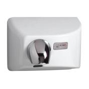 Nova 4 0412 Automatic Hand Dryer, White Cast Iron Cover, 110-120V, Swivel Nozzle