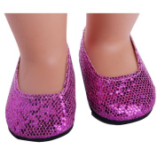 Doll's Glitter Shoes Dress Shoes Luxurious ACCY for 46cm Our Generation American Girl Doll Toy By UPXIANG