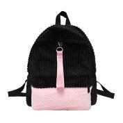 Domybest Women Mini Backpack Girls Corduroy School Bags Leisure Travel Shoulder Bag