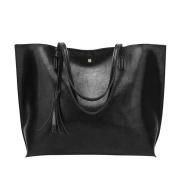 TianranRT Woman Casual Bags Women Leather Tassel Handbag Shoulder Bag Crossbody Bag (36cm(L)*30cm(H)*11cm