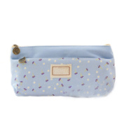 iTemer Canvas Pen Pencil Case Floral Pattern Multifunction Storage Pouch Stationery Makeup Bag