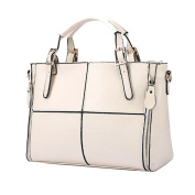 Women's Fashion Casual Leather Handbag Large Capacity Classic Ladies Tote Handbags Cross Body Shoulder Bags Messenger Bag Satchel Tote Bags,Solid (32cm(L)*12cm(W)*23cm