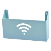 Household Bathroom Parlour Plastic Self Adhesive Magazine Holder Rack Light Blue