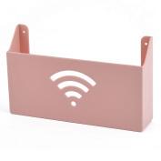 Household Bathroom Parlour Plastic Self Adhesive Magazine Storage Rack Pink