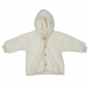 Engel - Baby Hoodie Jacket with Wooden Buttons, 100% Organic Merino Wool
