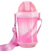 Yalatan Baby Bottles PP Kid Cute Kids Learn Feeding Drinking Water Straw Handle Bottle