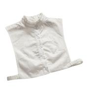Yalatan Women Shirts Fake Collar Detachable Blouse Sweater Tops Lapel Decor
