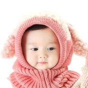 ECYC® Knited Winter Hats For Children Kids Rabbit Long Ear Cap Crochet Baby Hooded Hat Scarf