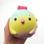 Pochers® 10CM Big Chicken Baby Squishy Scented Slow Rising Cute Animal Stress Balls Squeeze Toys Kids Adults Gift For Stress Relief